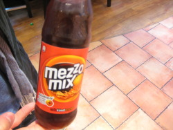 mezzo mix soda! it was orange flavored coca cola. yum!