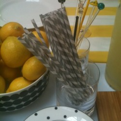 can't get enough of these striped straws, they add just the perfect amount of fun to any beverage!  (Taken with Instagram at Rockefeller Center)