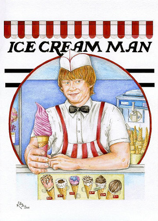 that's one sexy ginger ice cream man…