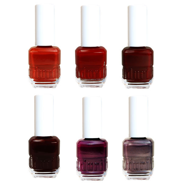 "Omg! These are gorgeous colors! Which do you guys want? I think ""Grape Swirl"" and ""Dragontini"" are so pretty! (via Duri's Wine-Inspired Fall 2011 Nail Collection)"
