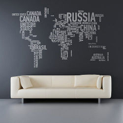 theabsolution:   World Map Painting