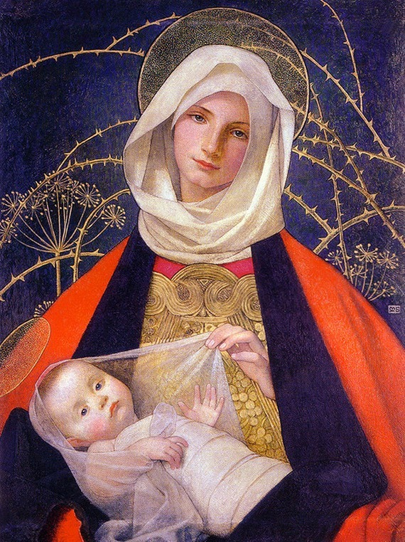 Madonna and Child - by Marianne Preindelsberger Stokes (1907)