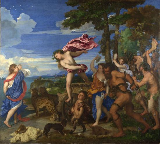 Bacchus and Ariadne (1520-1523), oil on canvas, National Gallery, London | artwork by Titian