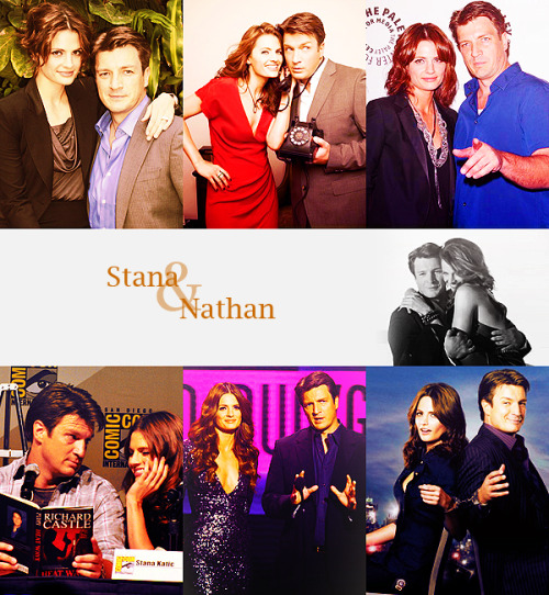 Top 5 Favorite co-stars   Stana Katic & Nathan Fillion (Castle)