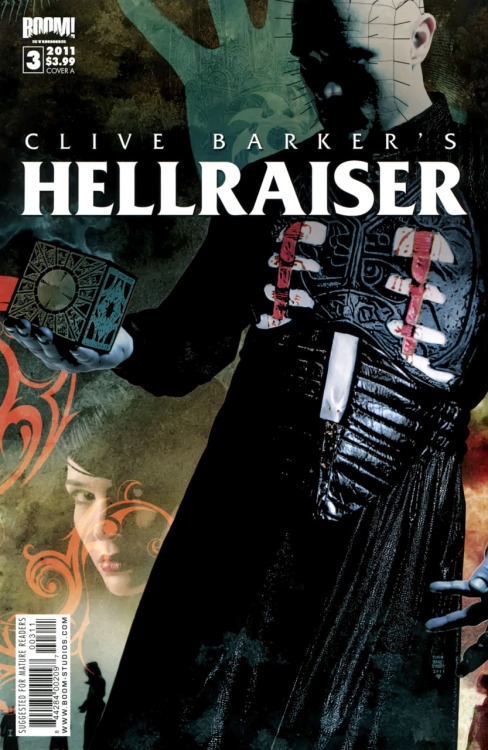 Clive Barker's Hellraiser #3, May 2011, cover by Tim Bradstreet