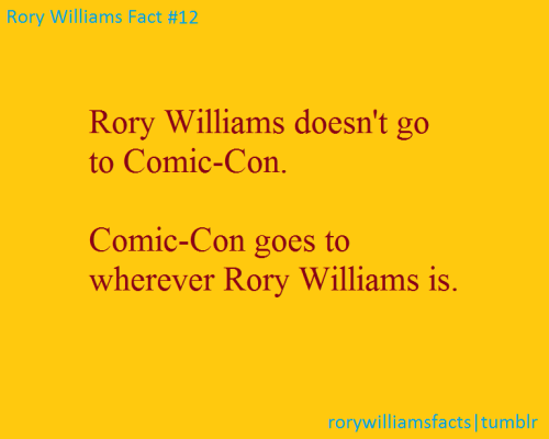 Rory Williams Fact #12 (we missed not having Rory at Comic-Con. Can we make today Roryday?)