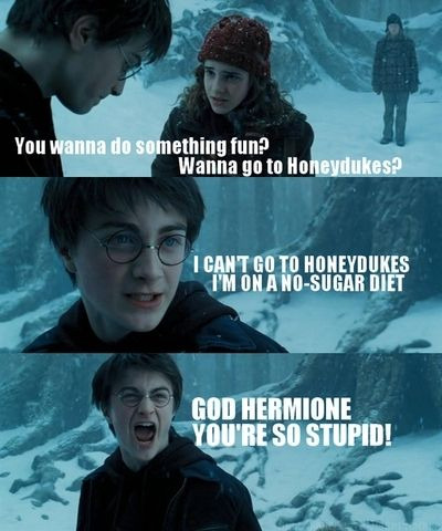 Harry? Did you forget to go to those anger classes again?….