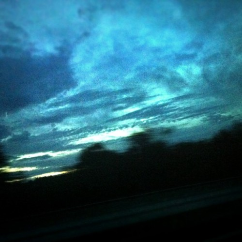 Dusk. Maine sky through a bus window. (Taken with instagram)