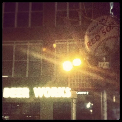 Boston Beer Works Brewery (Taken with instagram)
