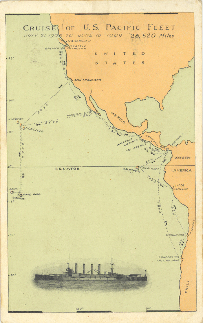 Cruise of US Pacific Fleet June 21, 1908 to June 10, 1909