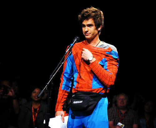 Spiderman has a fanny pack…lol
