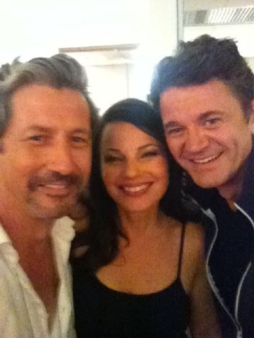 We have a new photo of the year. Fran Drescher ,Charles Shaughnessy and John  Thank you @C_shaughnessy for this.