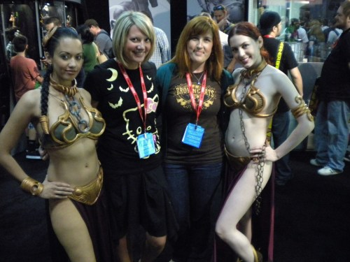 With the awesome AshleyGeekGirl (and a couple slave Leias) at SDCC Preview Night!