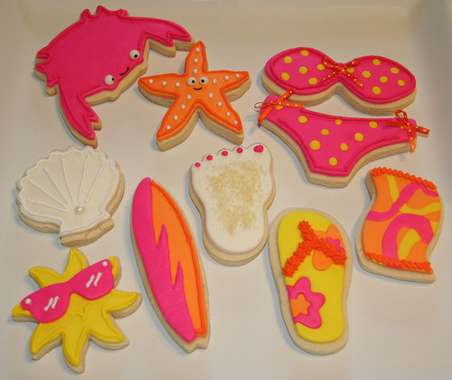 Summer fun cookies = Sandy feet