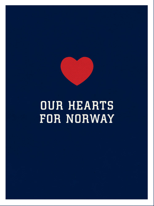 rerylikes:  PLEASE REBLOG to show your LOVE AND SUPPORT for Norway and it's people in this devastating time. 90 people confirmed dead, and the numbers are rising. Read more here. My name is Ine, I'm Norwegian, live in Norway, and run Cheerpluslife.com here on Tumblr. Thank you all for all your support in these hard times. It is appreciated greatly, please keep on reblogging! Update: This is incredible. 3000+ notes - it means so much, thank you so much for this incredible support shown by people all over the world.  (via jbe200, cheerpluslife)