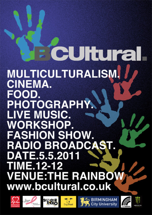 Flyer Design for BCUltural. By Rachelam9. (2011)