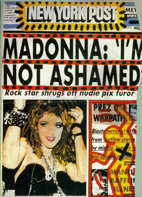 Andy Warhol and Keith Haring's collaborative wedding gift to Madonna.