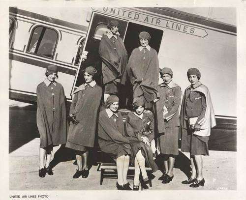 United Air Lines stewardesses - c. 1930s