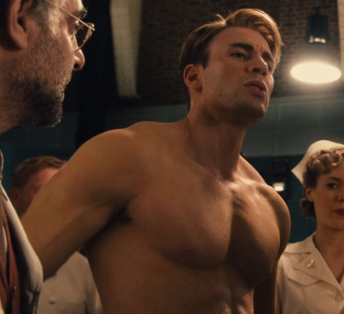 the effects of Vita-Rays…*swoon* Captain America / Chris Evans♥