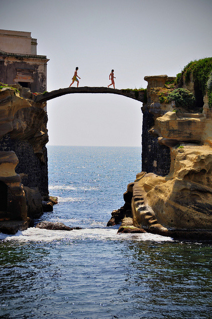 sunsurfer:  Gaiola Bridge, Naples, Italy photo By tiflosourtis