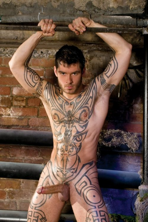 HunkDude: ♂    thunderjock:  Those are some awesome tattoos. :D    Logan McCree