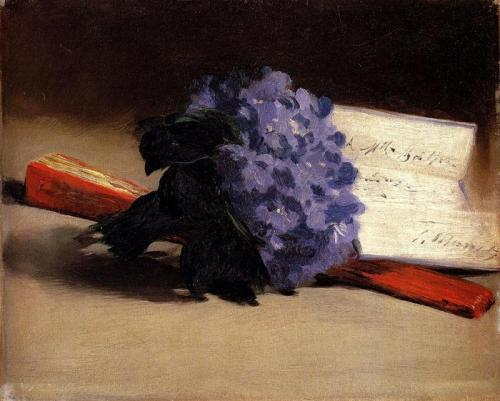 missfolly: 1872 Édouard Manet (French 1832-83) ~ A Bouquet of Violets