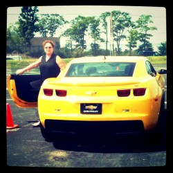 Main Street In Motion event - mom got to drive a Camaro (Taken with instagram)