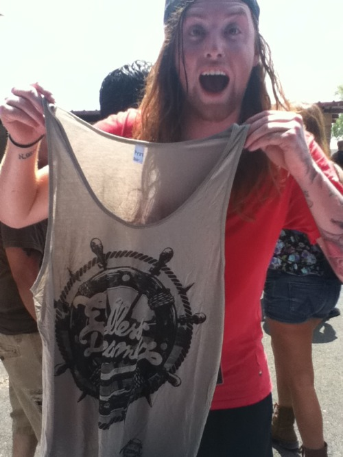Jesse Lawson from Sleeping With Sirens repping our Endless Dreamer tank! Looked awesome once he put it on! :)