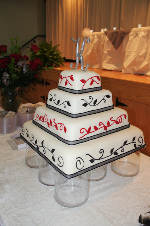 Wedding cakes always make me nervous.