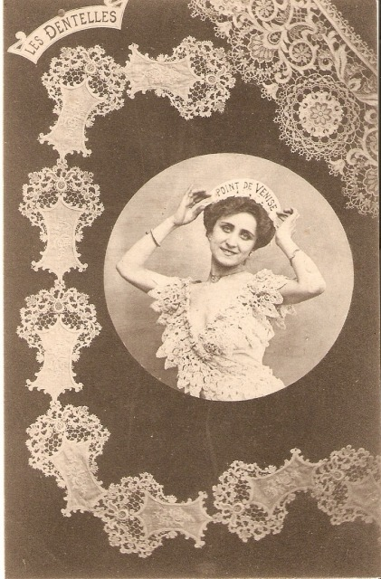 crochet:  (via Dentelle point de Venise par jean claude audouin sur L'Internaute)
