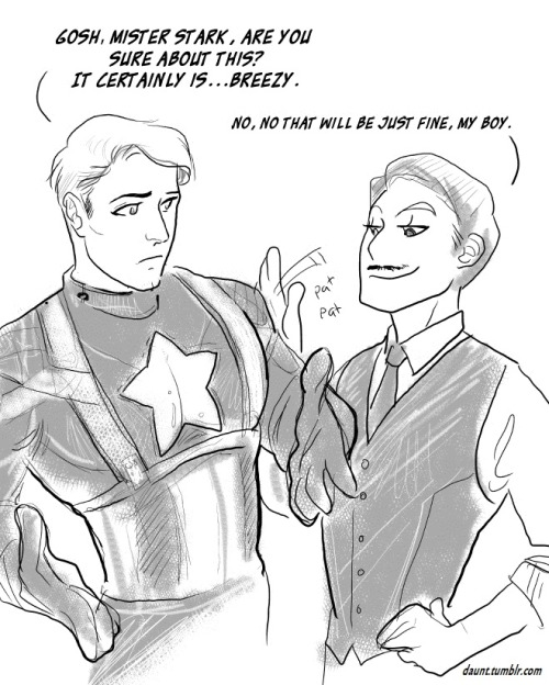room801:  Steve Rogers (Captain America) & Howard Stark - Captain America: The First Avenger (by daunt)