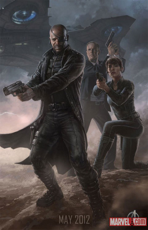 "agentfury:  Character concept art by Andy Park for the Avengers movie.  My favorite character from the newest interconnected Marvel ""Avenger"" films is hands down, Agent Coulson. Why? Because he is awesome. He is human (as far as we know) has no identifiable super powers and yet when Stane started tearing the joint up in his Iron Man armor, Coulson couldn't have been cooler. He threatens super-powered billionaires and gods alike. In short, Agent Coulson just doesn't care, he has a job and he WILL get it done. You go Agent Coulson, here's to many more movies featuring your particular brand of understated awesome."