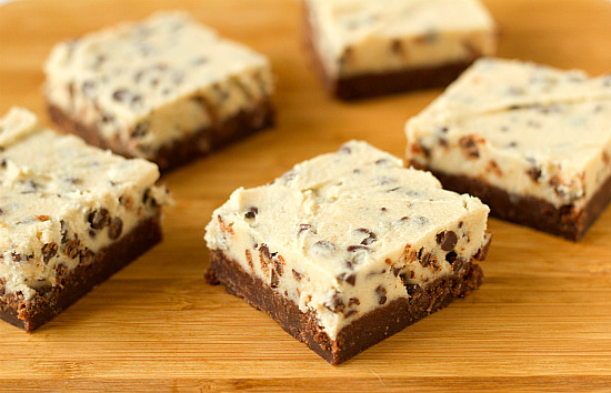 gastrogirl:  chocolate chip cookie dough brownies.