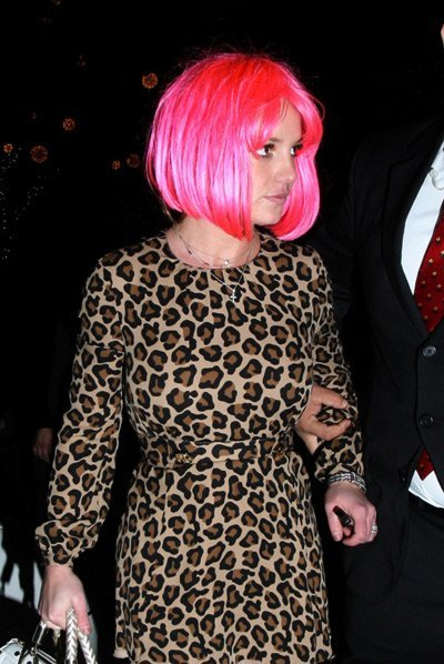 Britney Spears with Pink Wig (Programming alter state) with BETA Cheetah Print speaking in different accents (lost in Wizard of Oz)