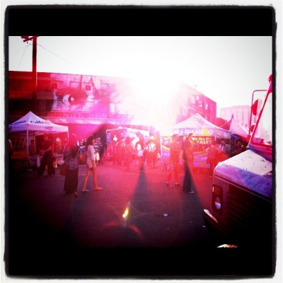 eye beam. #dtla #artsdistrict #bloomfest (Taken with instagram)