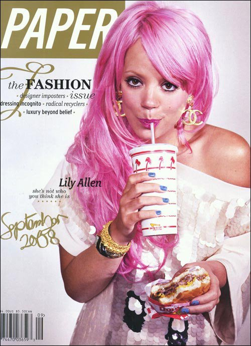 "Lily Allen Pink Wig/alter, the title is: ""She's not who you think she is"" meaning she is programmed, that you don't know the real her."