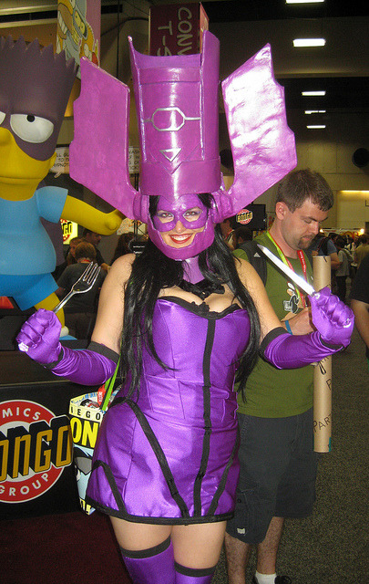 Galactus. In a Dress. With a Knife and Fork. on Flickr.