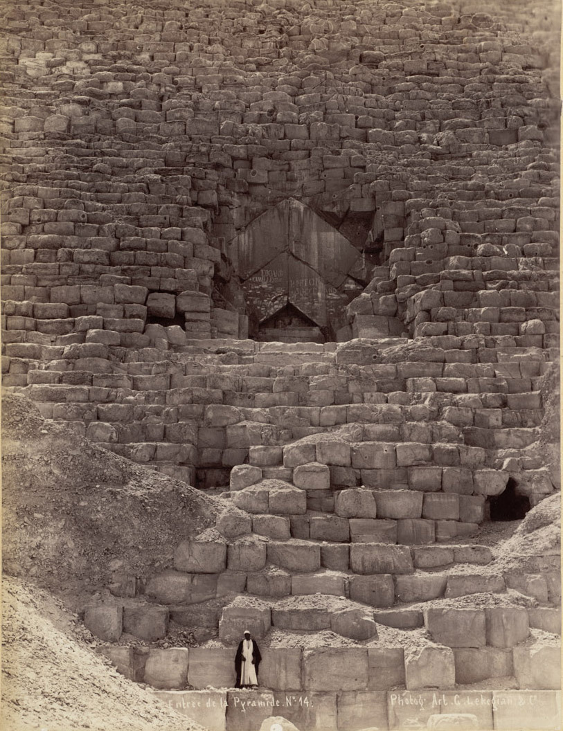 Entrance to the Great Pyramid, Gizah