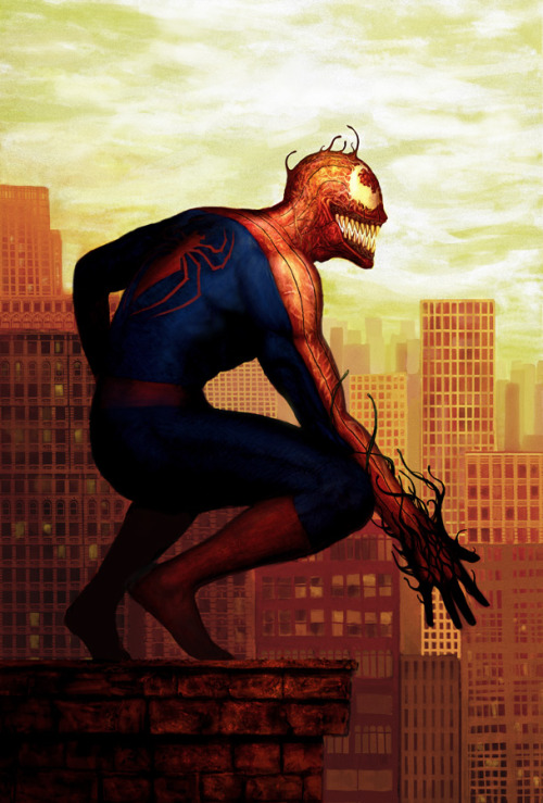 fyeahsuperheroes:  Venom Within by *ahbeejieh   This is DOPE!!!