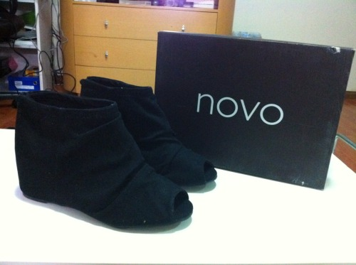 NOVO PEEP TOE SANDAL HEELSHidden wedge! Just a tad bit too big for me :(Size: 8 (fits 7)Condition: Brand new in boxRRP: $69.95Selling for: $45 SOLD