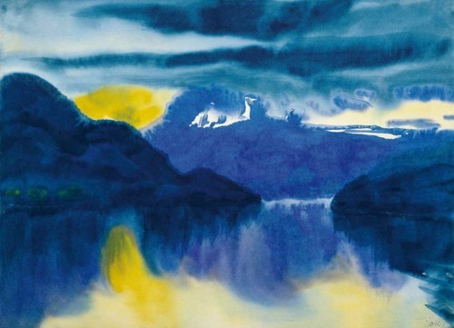 "Lake Lucerne, above. Emil Nolde. 1930  Mountain Slope Over the Sea, Emil Nolde. ""Our personal consumer choices have ecological, social, and spiritual consequences. It is time to re-examine some of our deeply held notions that underlie our lifestyles."" ~David Suzuki"
