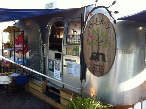 Raw & Juicy! Amazing little mobile raw food juice bar in Seaside Florida  I got the Spiked Melon: watermelon, pineapple, kale, and spirulina