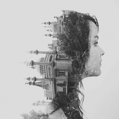 ruineshumaines:  Double exposure // Val // Royal Pavilion, Brighton (by •DΛN MOUNTFORD•)