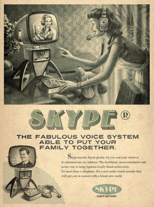 Vintage Ads Of Modern Technology These vintage ads are advertising modern techonology and I can say that  it looks fantastic. If companies will pick this type of design for their  product advertising, I'm sure that most people will like it. We are  bored of seeing the same ads