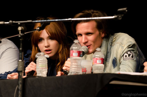 Karen and Matt at The Nerdist Live at San Diego Comic-Con last night Posting the rest of our pics to facebook.com/bbcamerica later today. Go 'like' that page if you're into teh bookfacing.