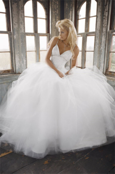 White Cinderella Wedding Dress