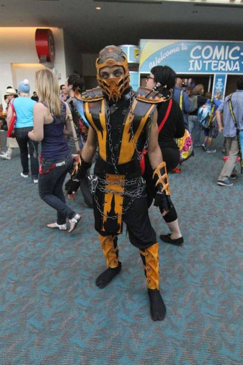 Scorpion from Mortal Kombat at SDCC '11 Via: demonsee