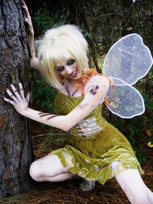 Zombie Tinkerbell from Disney's Peter Pan, or The Boy Who Wouldn't Grow Up