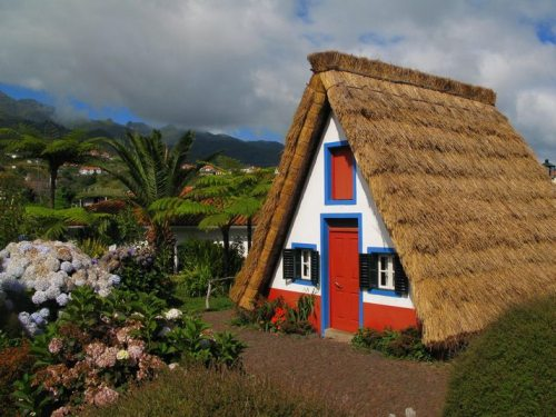 Traditional-style house in Santana, Madeira, Portugal (via Top Travel)