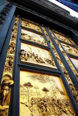 vistale:  Gates to Paradise - Florence Italy Recently polished and on public display after decades of restoration.